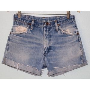 Vintage Wranglers Size 31 Distressed Jean Shorts